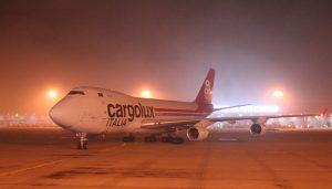 Cargolux Italia B747F on its Malpensa-Incheon service