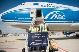 Jonathan Celetaria (Sales Director, Europe, AirBridgeCargo Airlines), Moritz Claussen (Founder and Managing Director, cargo.one)