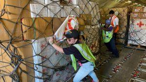 DHL's DRT help unload cargo following Hurricane Dorian