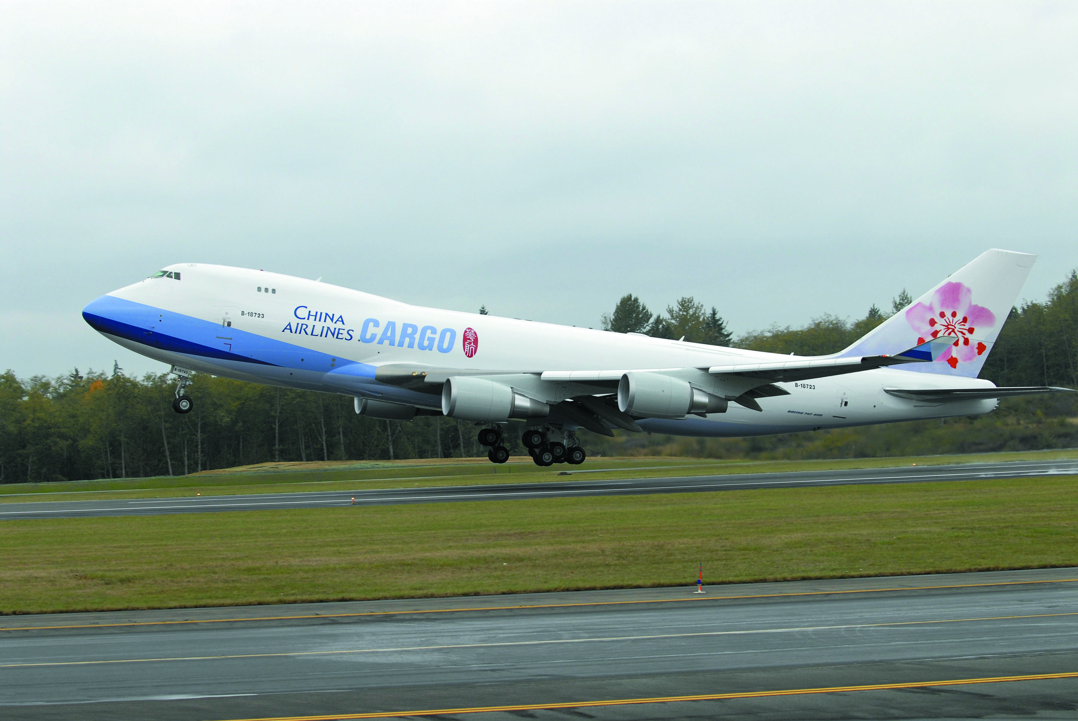 China Airlines Cargo B9F flies into Mumbai