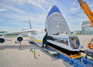 Antonov Airlines moves two trains from Germany to China