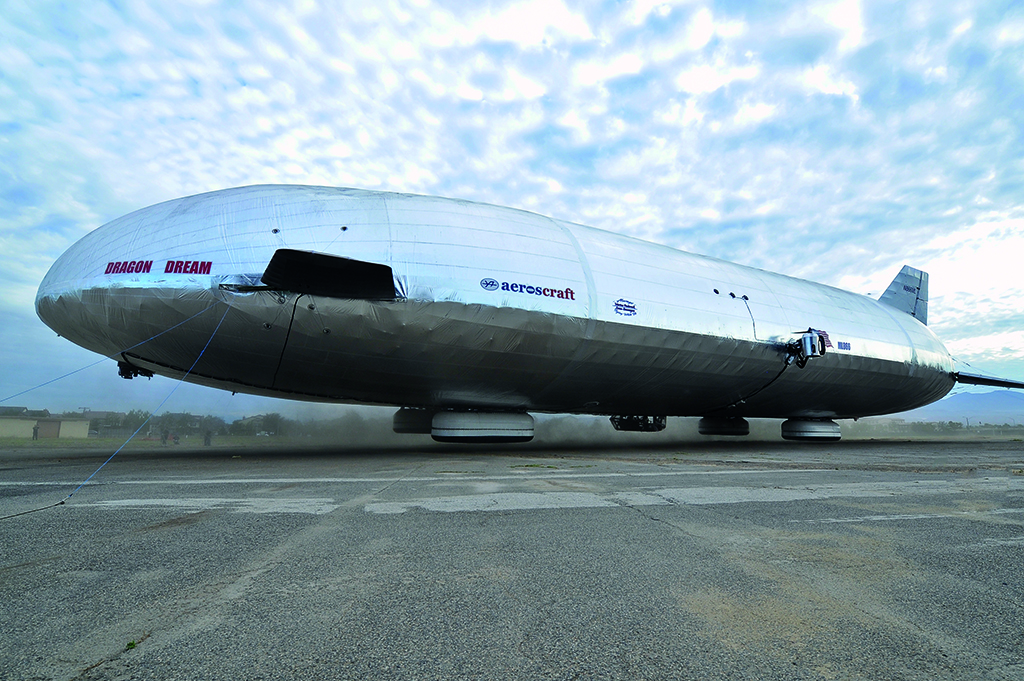 Airship hovers to next development stage