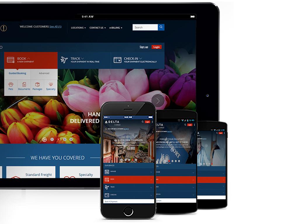 Delta Cargo improves web portal