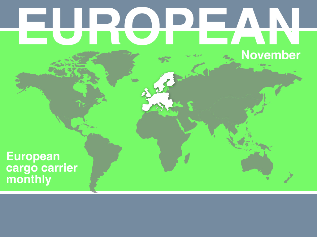 European cargo monthly demand growth moderates in for Europe in november