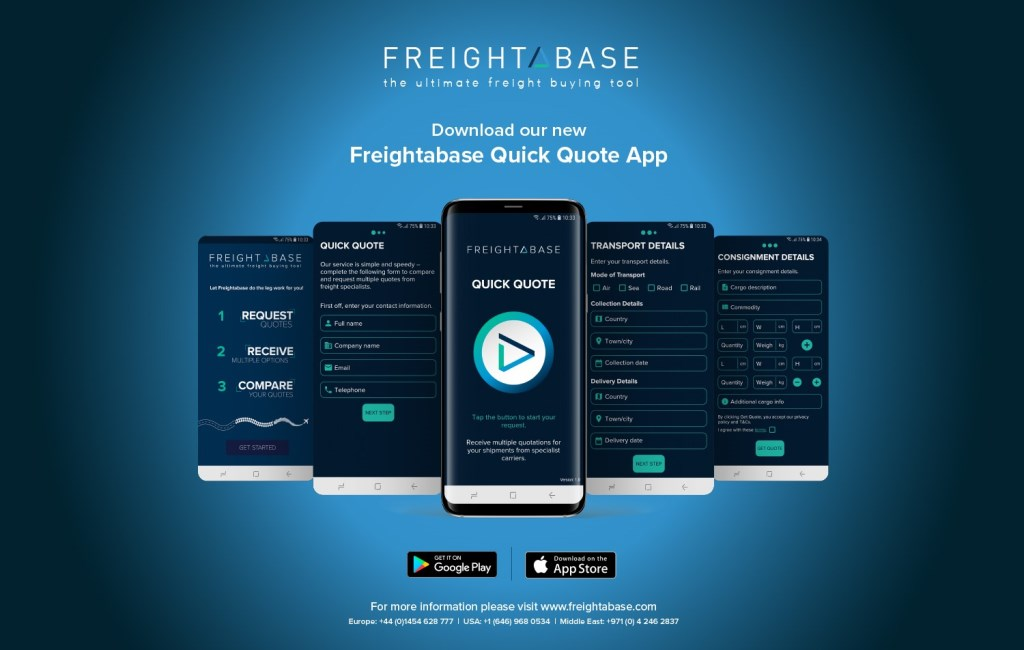 Freightbase adds 'quick quote app'