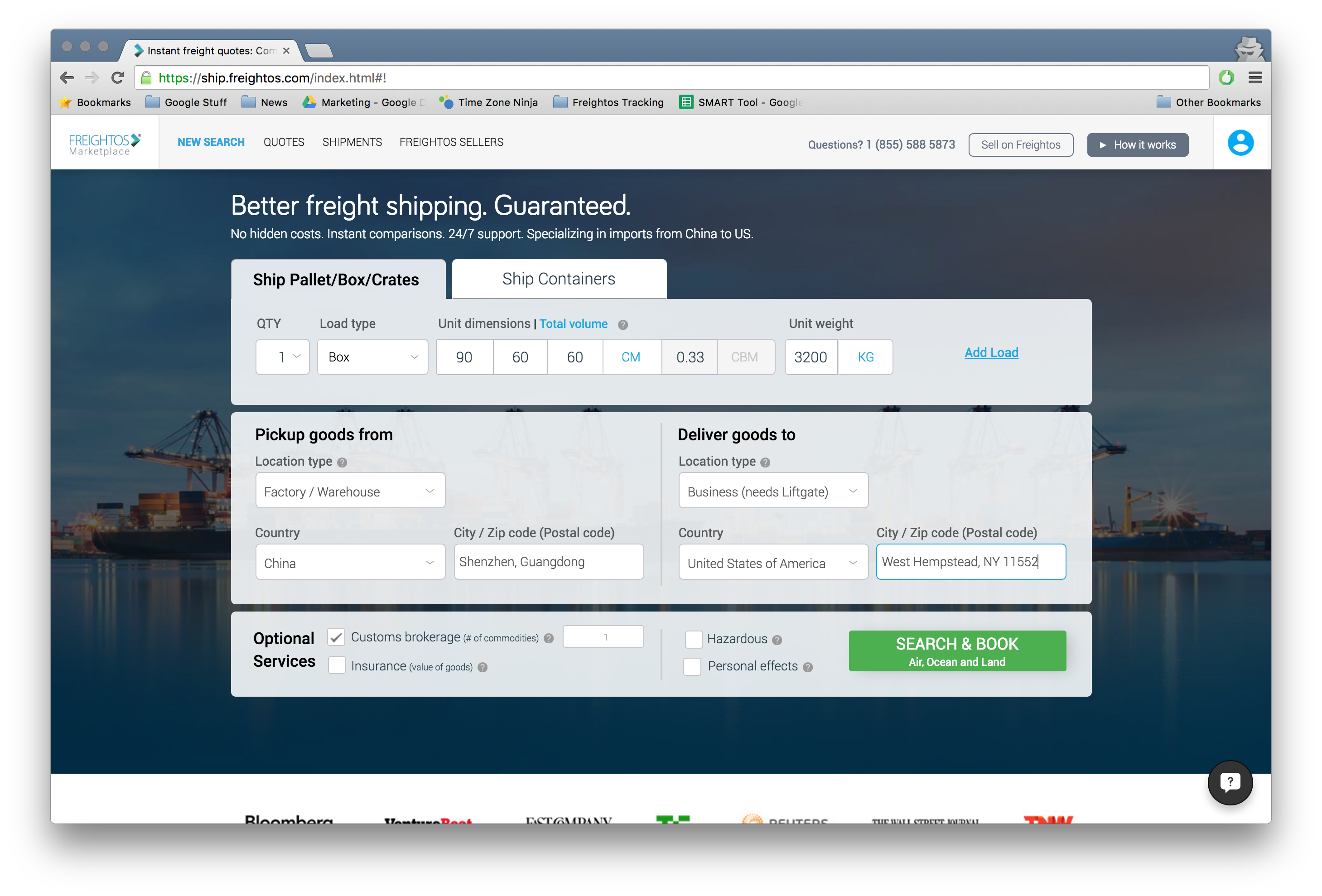 Freightos launches freight rate calculator