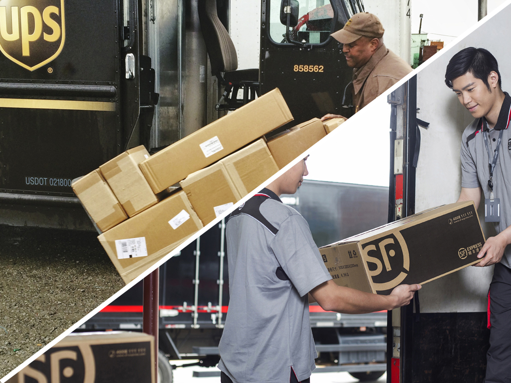 Ups seals joint venture with china s sf express air for Sf contact nackenkissen small