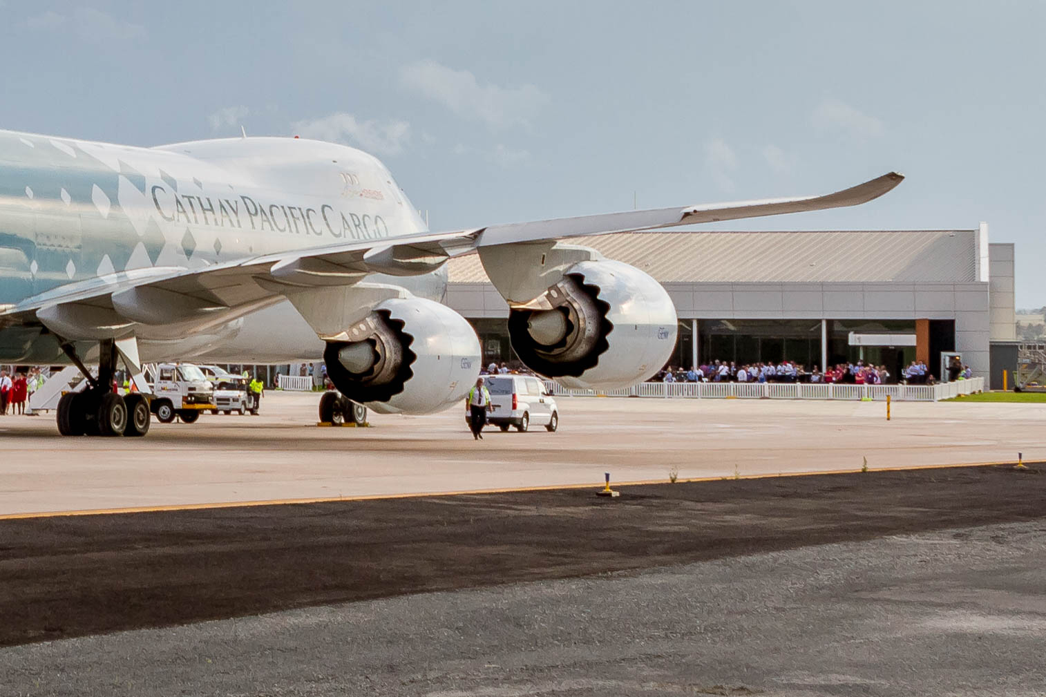 Cathay Pacific Cargo B747F takes off from Wellcamp